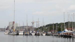 Die Futuro im Flensburger Stadthafen
